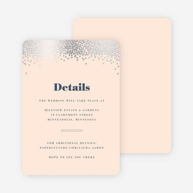 Confetti of Joy Wedding Direction Cards - Pink