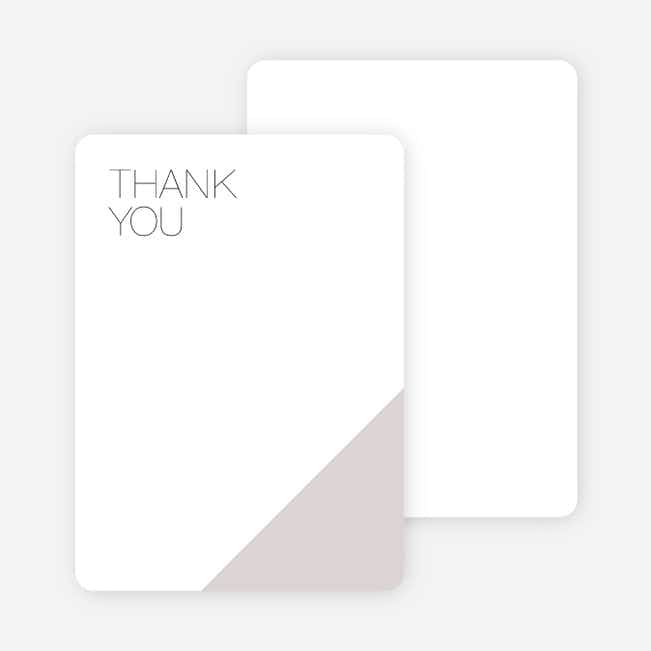 Cornerstones of Bliss Wedding Thank You Cards - Gray