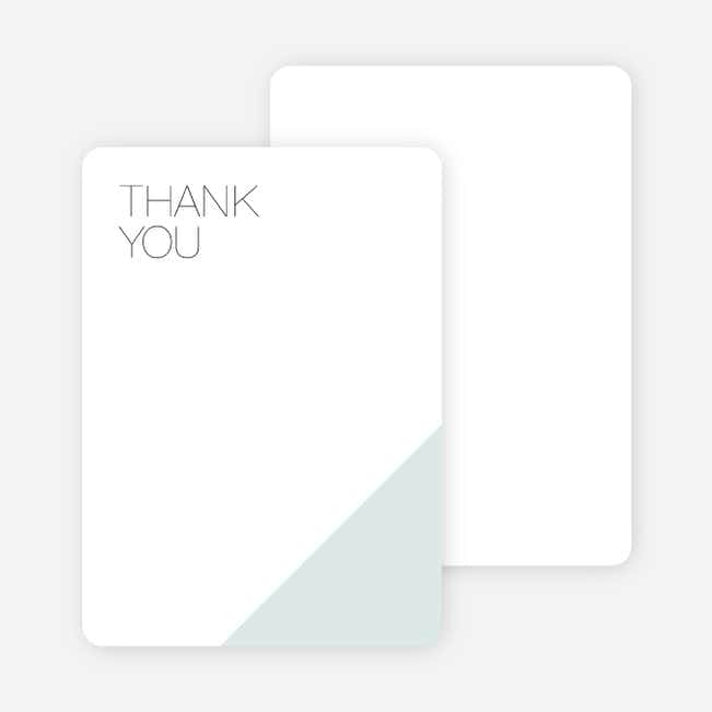 Cornerstones of Bliss Wedding Thank You Cards - Blue