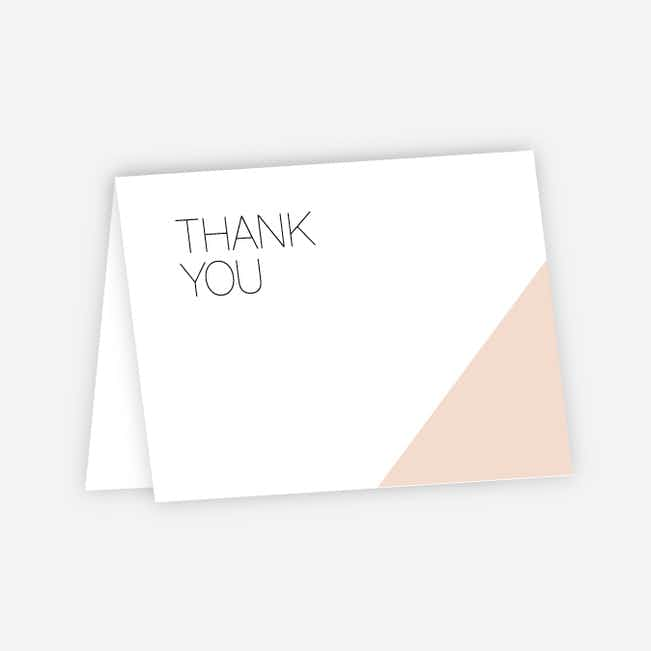 Cornerstones of Bliss Wedding Thank You Cards - Pink