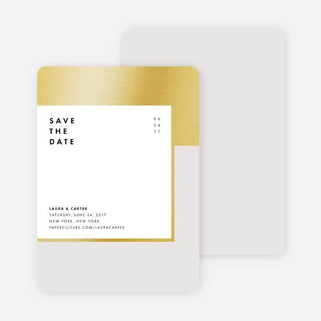 Foil Blocks Save the Dates - Beige