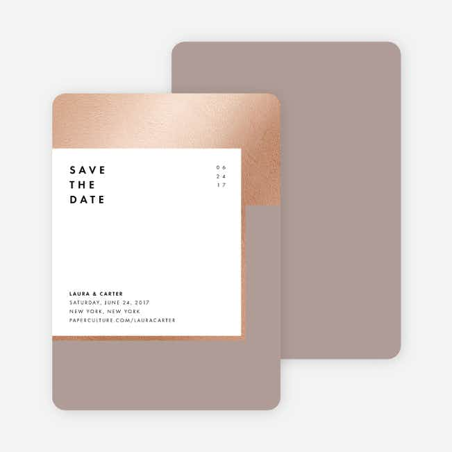 Foil Blocks Save the Dates - Gray