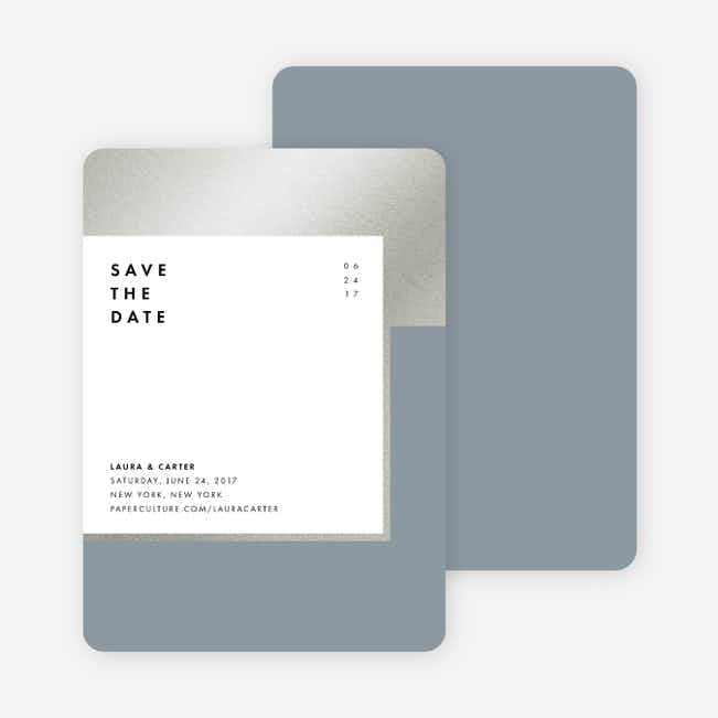 Foil Blocks Save the Dates - Blue