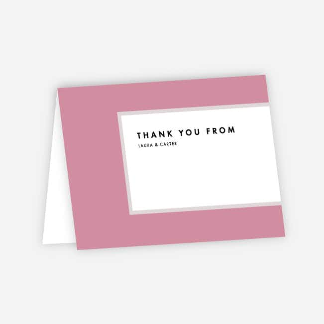 Foil Blocks Wedding Thank You Cards - Gray