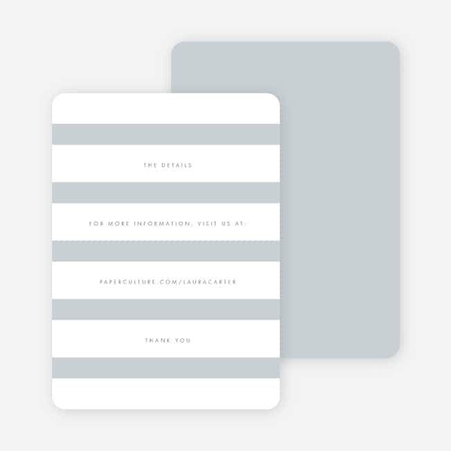 Wedding Bands Wedding Direction Cards - Gray