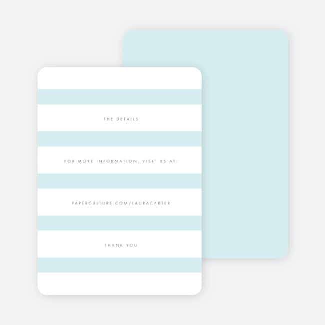 Wedding Bands Wedding Direction Cards - Blue