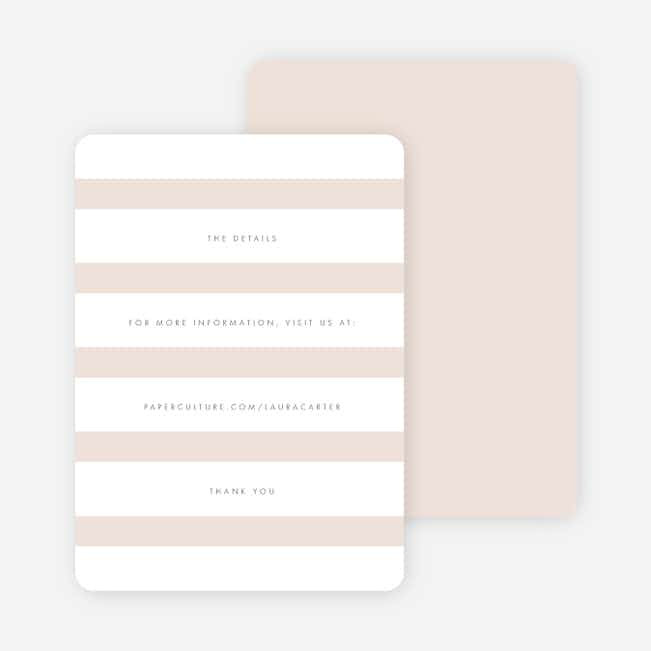 Wedding Bands Wedding Direction Cards - Pink