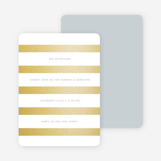Wedding Bands Wedding Reception Cards - Gray