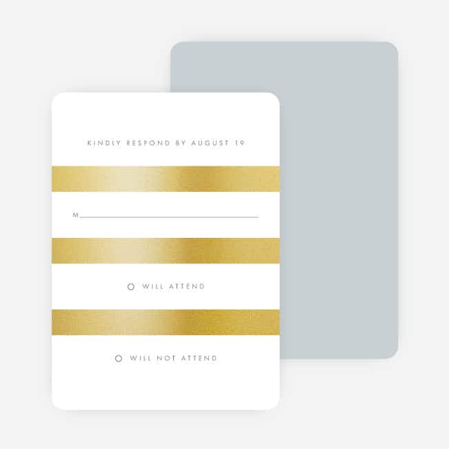 Wedding Bands Wedding Response Cards - Gray