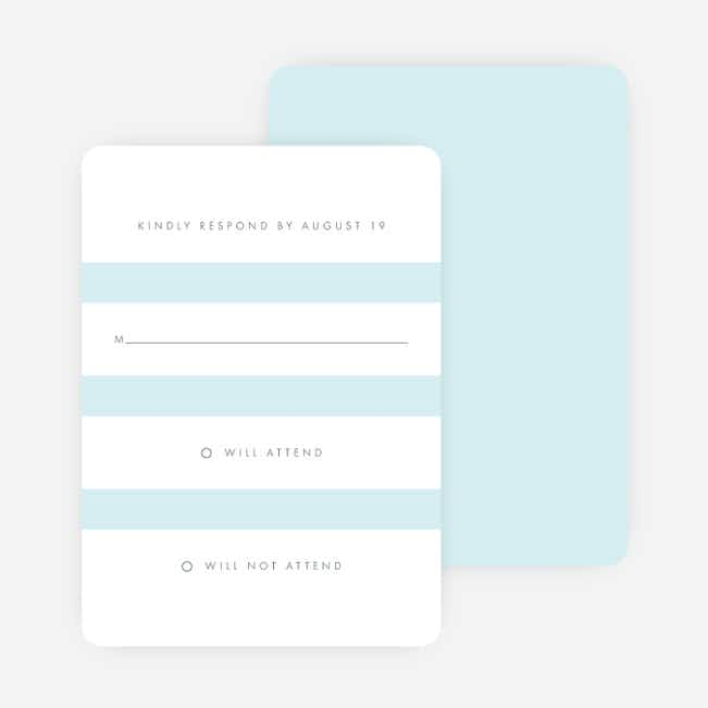 Wedding Bands Wedding Response Cards - Blue