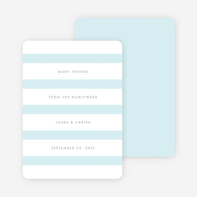 Wedding Bands Wedding Thank You Cards - Blue