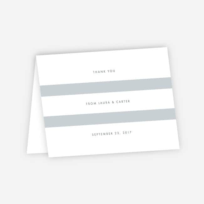 Wedding Bands Wedding Thank You Cards - Gray