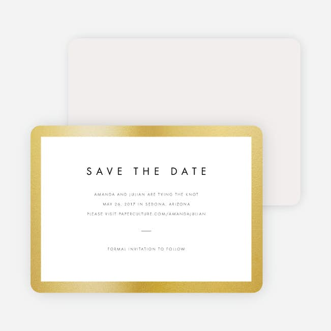 Wedding Frame of Mind Save the Dates | Paper Culture