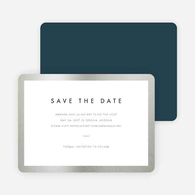 Wedding Frame of Mind Save the Dates - Blue