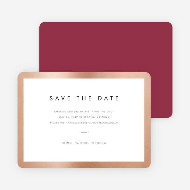 Wedding Frame of Mind Save the Dates - Red