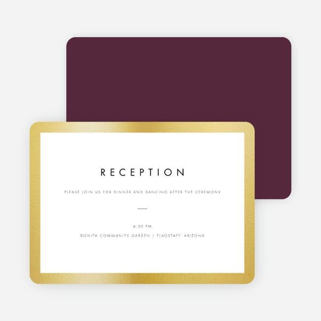 Wedding Frame of Mind Wedding Reception Cards | Paper Culture
