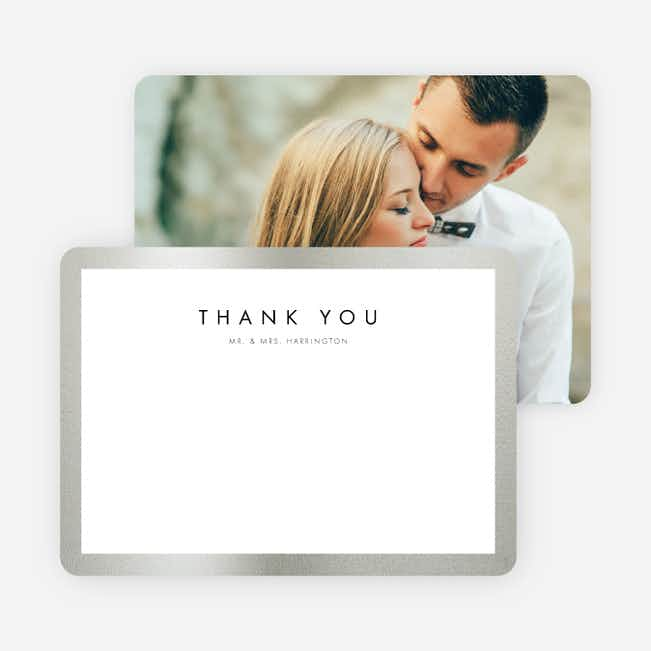 Wedding Frame of Mind Wedding Thank You Cards - Blue