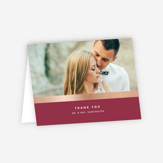 Wedding Frame of Mind Wedding Thank You Cards - Red