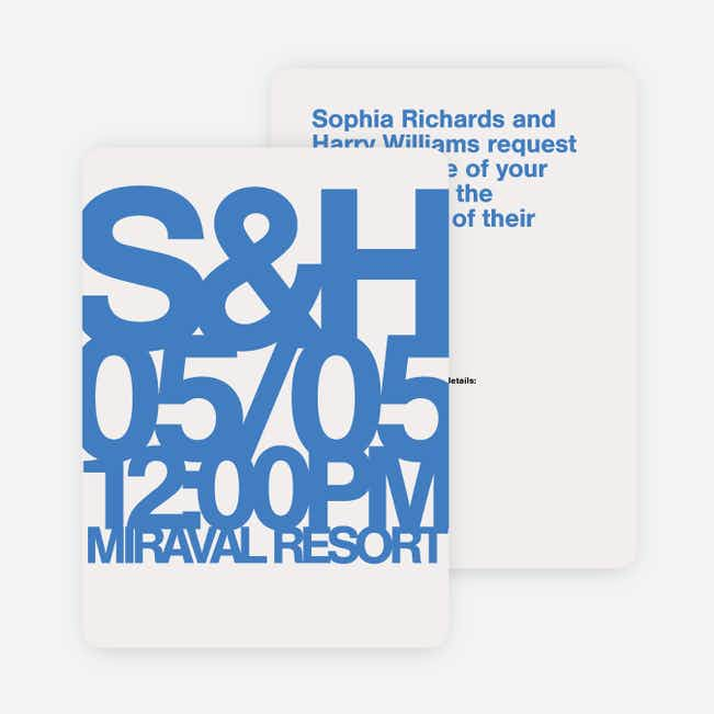 Fortune Favors the Bold Wedding Invitations - Blue