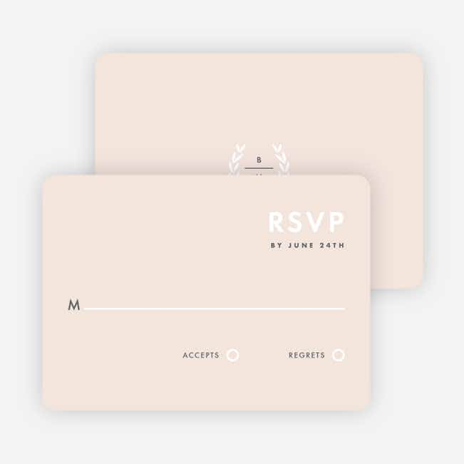 Look to Your Laurels Wedding Response Cards - Beige