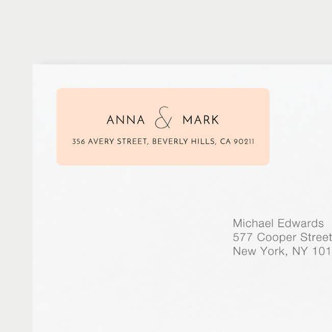 Simple Lines Wedding Gift Tags and Stickers - Pink