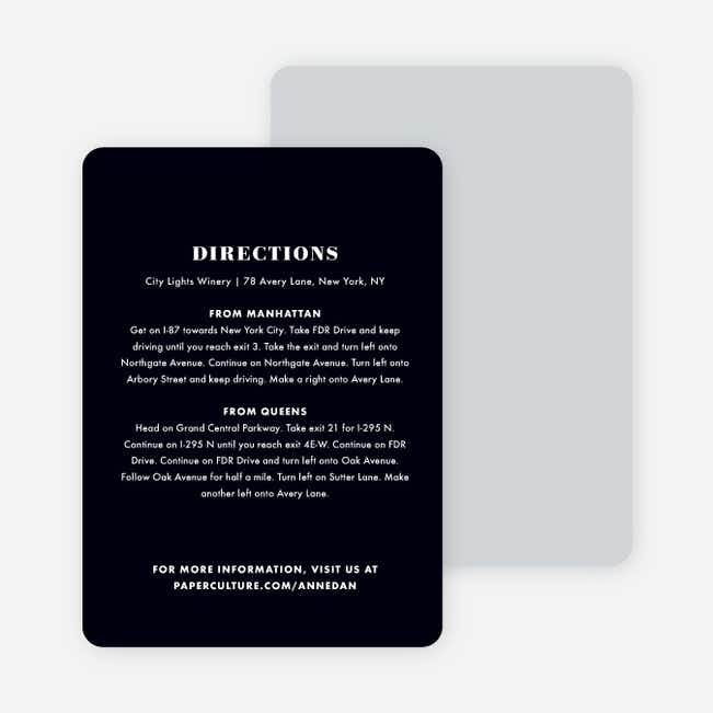 Simply Married Wedding Direction Cards - White