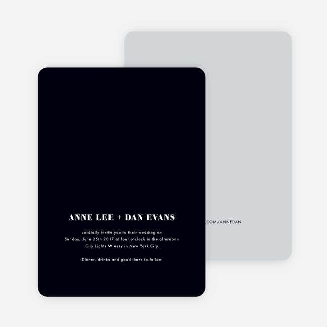 Simply Married Wedding Invitations - White