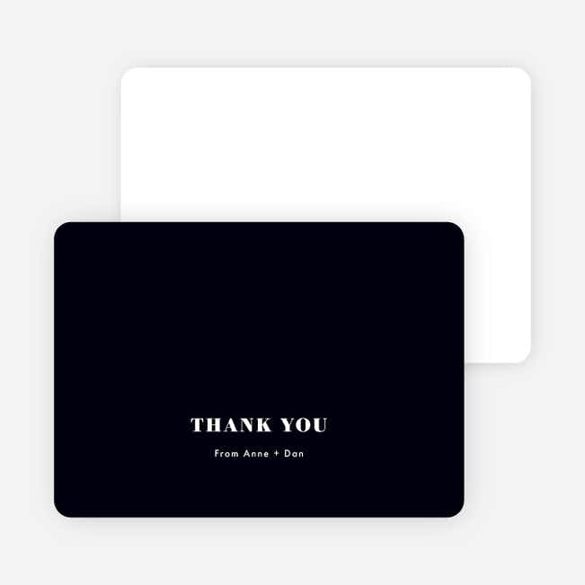Simply Married Wedding Thank You Cards - White