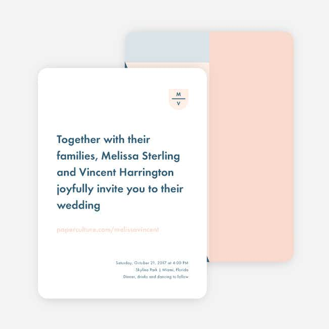 Taking Shape Wedding Invitations - Pink