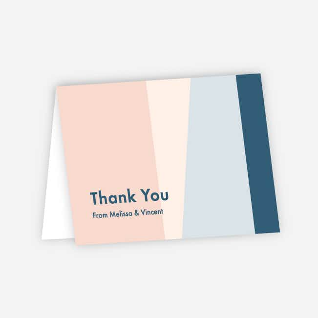 Taking Shape Wedding Thank You Cards - Pink