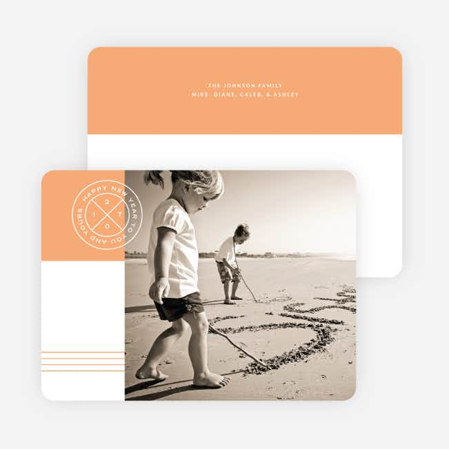 Simple Seal New Year Cards - Orange