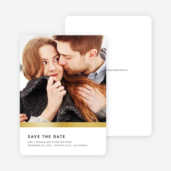 Stripe It Save the Dates - White