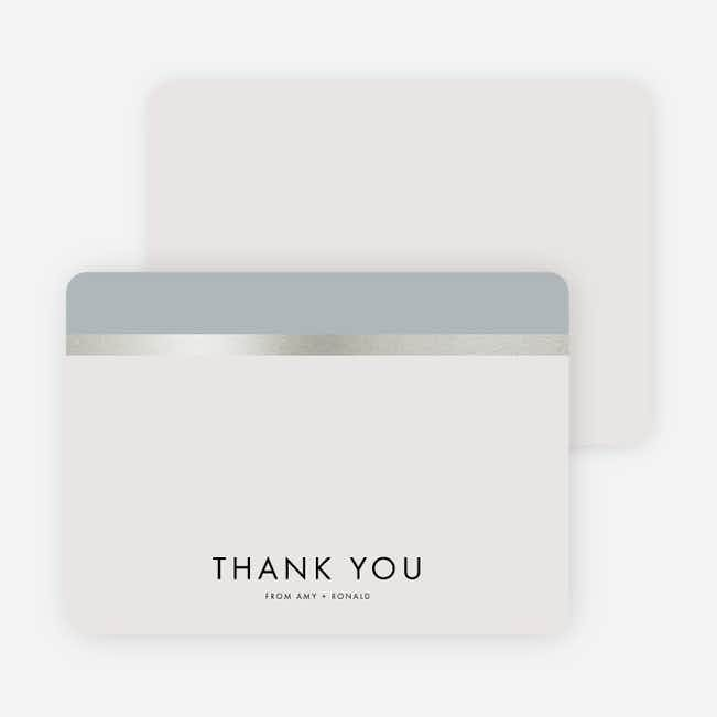 Stripe It Wedding Thank You Cards - Black