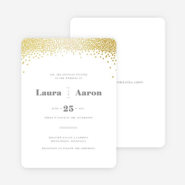 Confetti of Joy Wedding Invitations - White