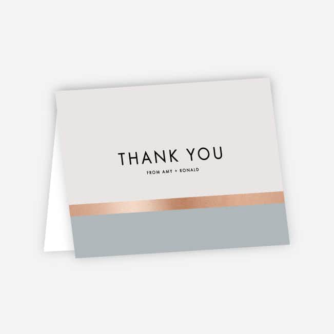 Stripe It Wedding Thank You Cards - Gray