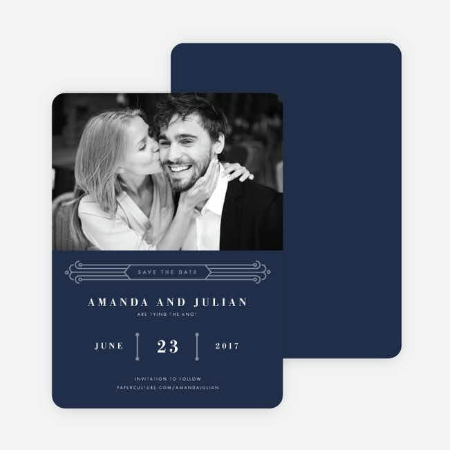 Art Deco Save the Dates - Blue