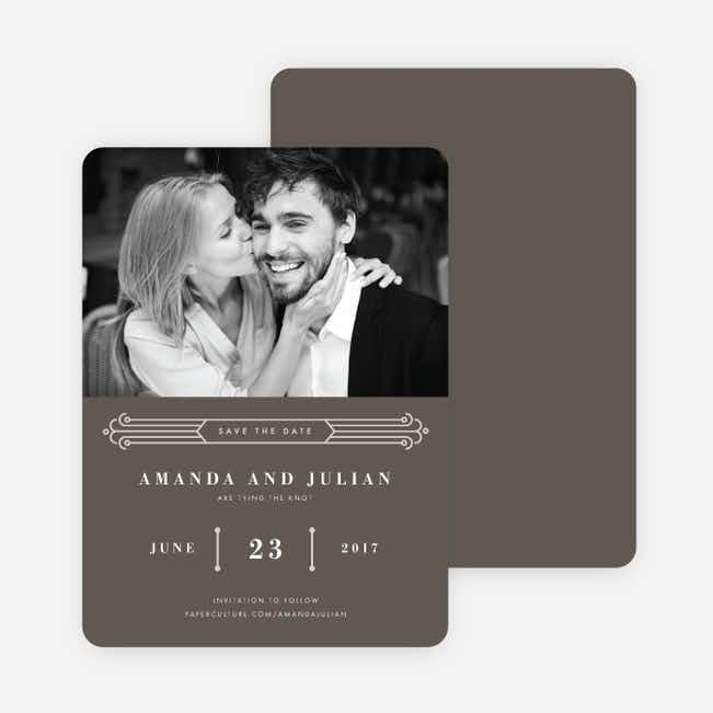 Art Deco Save the Dates - Gray