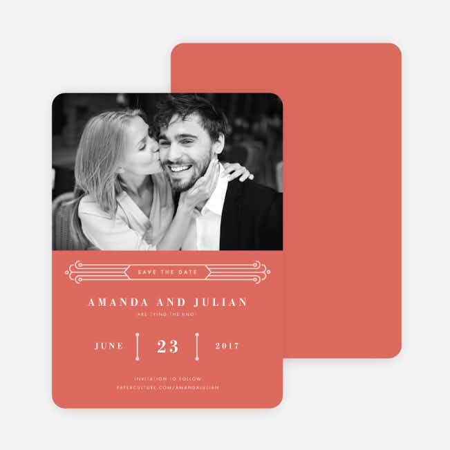Art Deco Save the Dates - Pink
