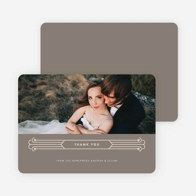 Art Deco Wedding Thank You Cards - Gray