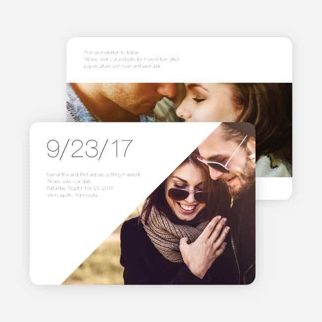 Cornerstones of Bliss Save the Dates - White