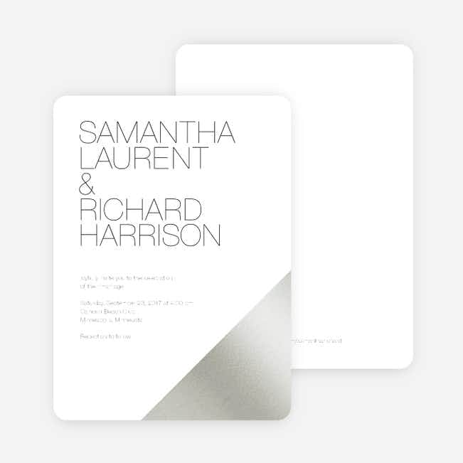 Cornerstones of Bliss Wedding Invitations - White