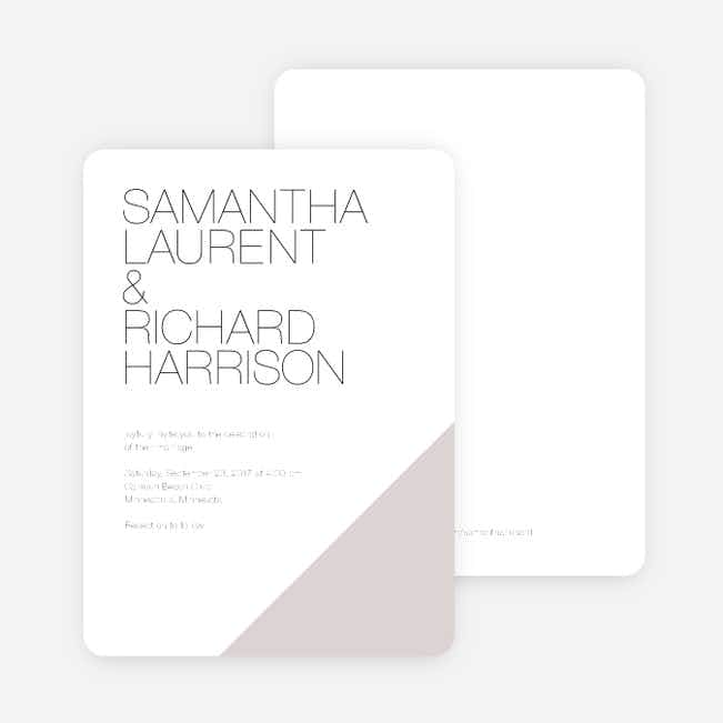 Cornerstones of Bliss Wedding Invitations - Gray