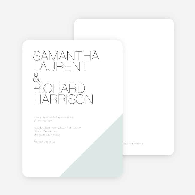 Cornerstones of Bliss Wedding Invitations - Blue