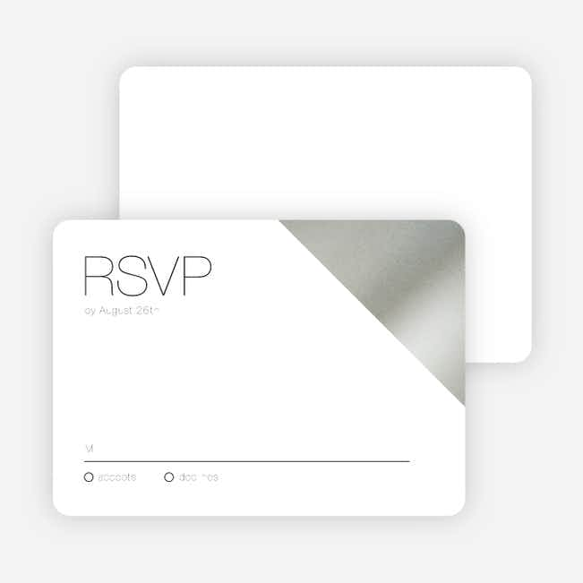 Cornerstones of Bliss Wedding Response Cards - White