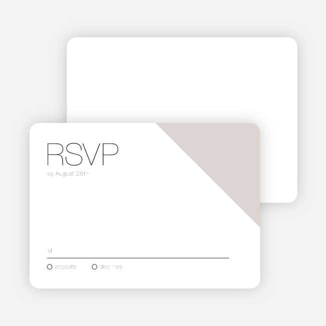 Cornerstones of Bliss Wedding Response Cards - Gray