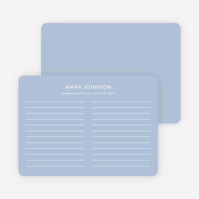 Line Up Note Cards - Blue