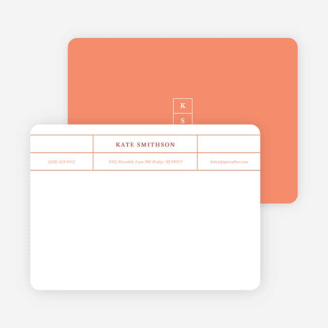 Monogram Grid Professional Stationery - Orange