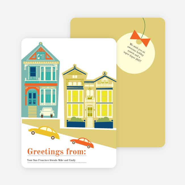 San Francisco Skyline Holiday Cards - Multi