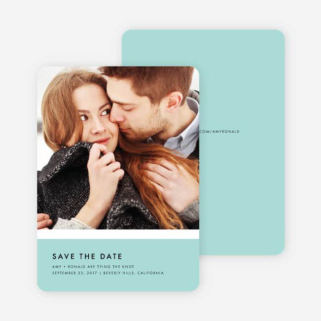 Stripe It Save the Dates - Blue