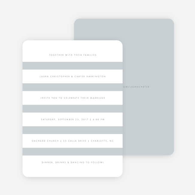 Wedding Bands Wedding Invitations - Gray